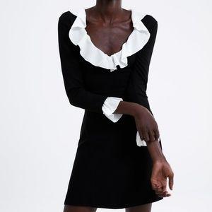 NWT ZARA KNIT DRESS WITH CONTRASTING TRIM